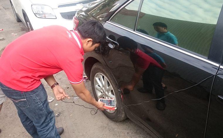 Lắp đặt và lập trình cảm biến áp suất lốp xe Toyota Camry 2010