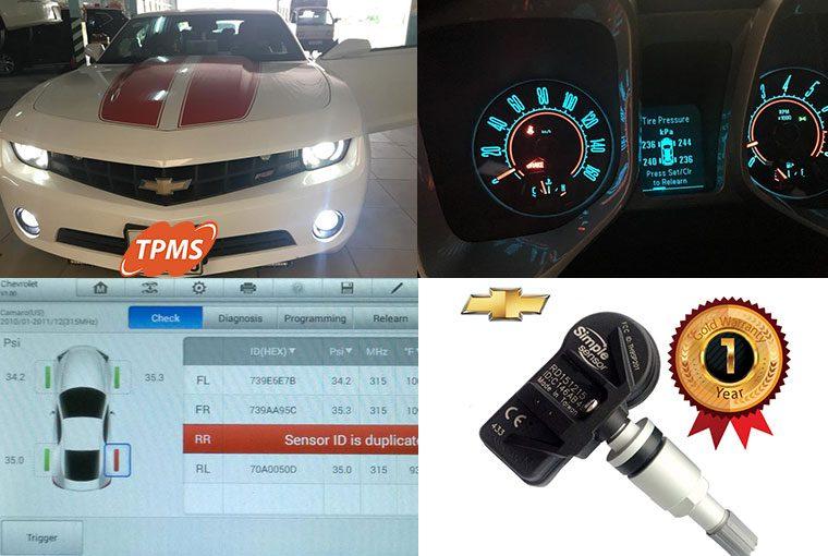 Học lại cảm biến áp suất lốp Chevrolet Camaro 2011