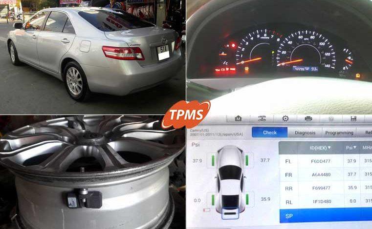 Thay van cảm biến áp suất lốp Toyota Camry 2010
