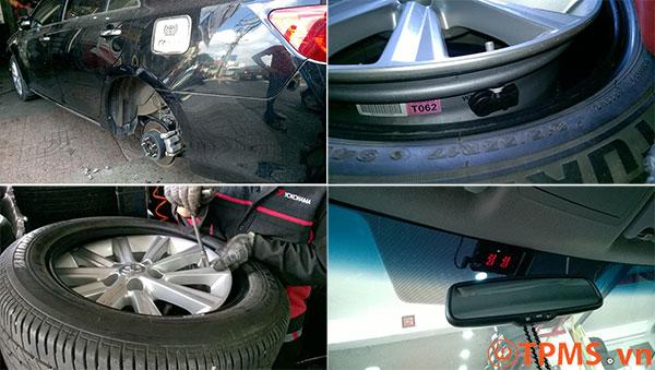 Lắp đặt cảm biến áp suất lốp Toyota tại Việt Nam