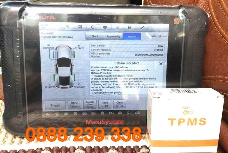 Cài đặt cảm biến áp suất lốp Toyota Sienna 2013