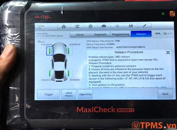 Cảm biến áp suất lốp Toyota Sienna