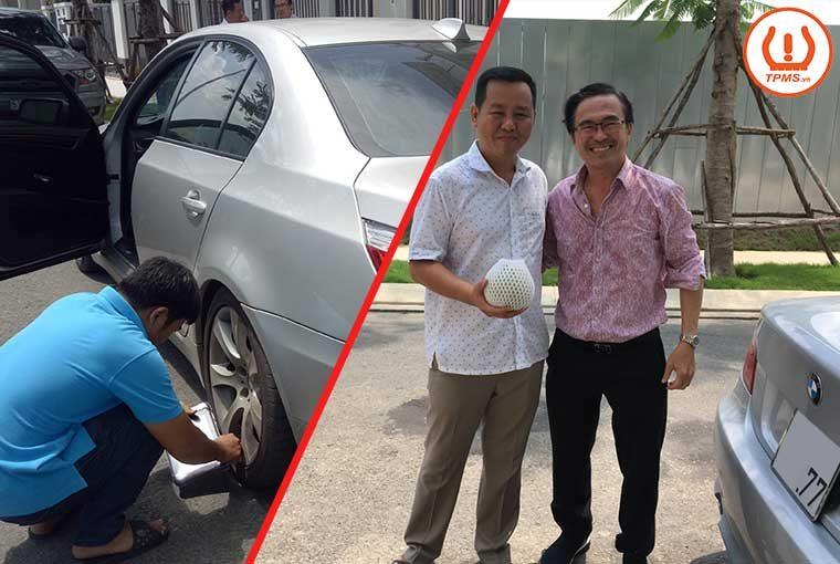 Kiểm tra cảm biến áp suất lốp BMW 535i của nghệ sĩ Hữu Luân