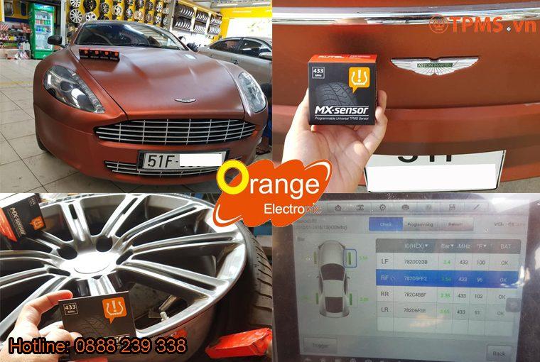 Cài đặt cảm biến áp suất lốp Aston Martin Rapide 2009