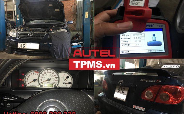 Cài đặt cảm biến áp suất lốp Toyota Corolla Altis 2008
