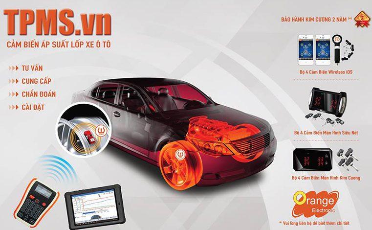 Cảm biến áp suất lốp ô tô cao cấp bảo hành chính hãng