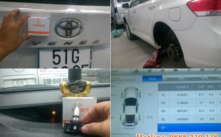 Thay cảm biến áp suất lốp Toyota Venza 2007