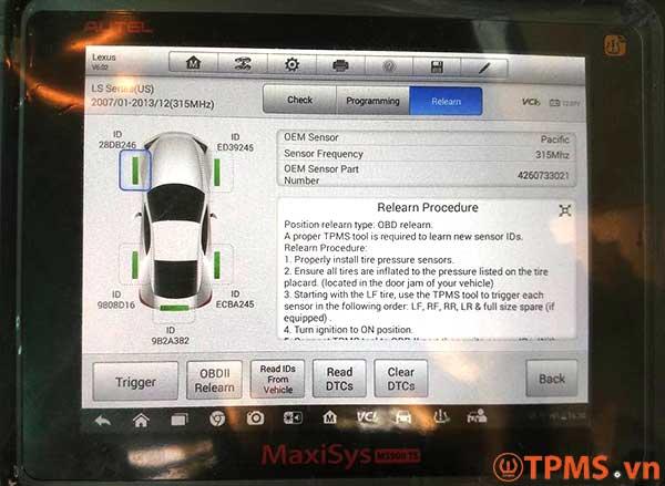 Áp suất lốp Lexus