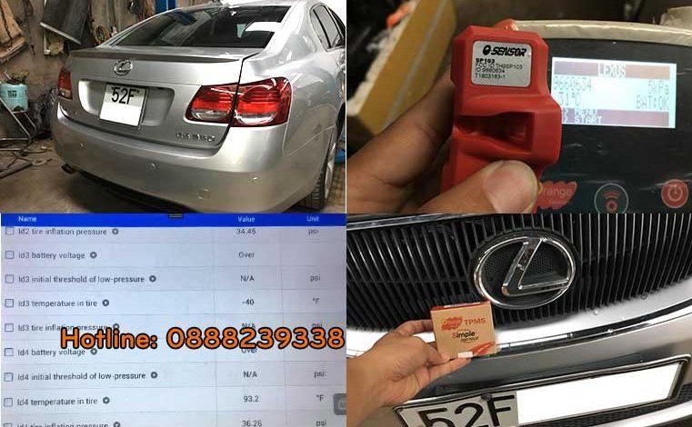 Cài đặt cảm biến áp suất lốp Lexus GS350 2008
