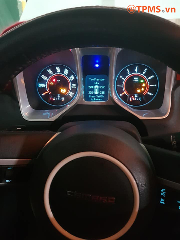 Cài đặt cảm biến áp suất lốp Chevrolet Camaro