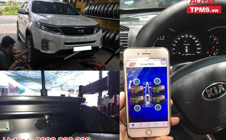Cài đặt cảm biến áp suất lốp iOS Kia Sorento 2015