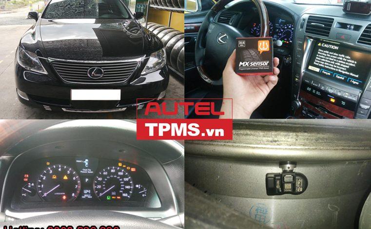 Cài đặt cảm biến áp suất lốp Lexus LS460 2007