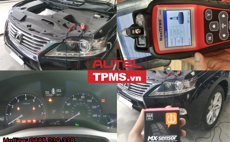 Cài đặt cảm biến áp suất lốp Lexus RX350 2013