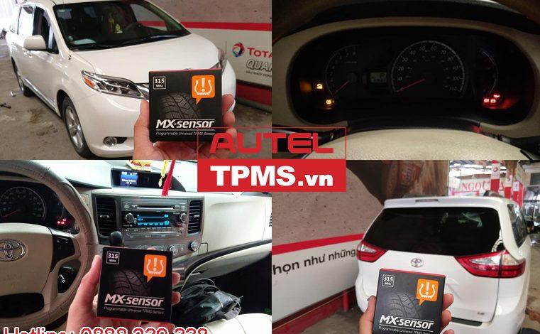 Cài đặt cảm biến áp suất lốp Toyota Sienna 2011