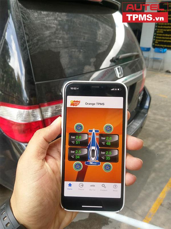 Lắp đặt cảm biến áp suất lốp iOS Honda Odyssey 2005