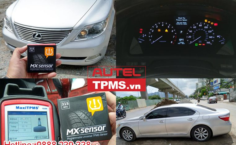 Lập trình cảm biến áp suất lốp Lexus LS460 2007