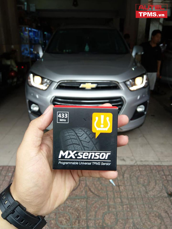 Cài đặt cảm biến áp suất lốp Chevrolet Captiva REVV 2016