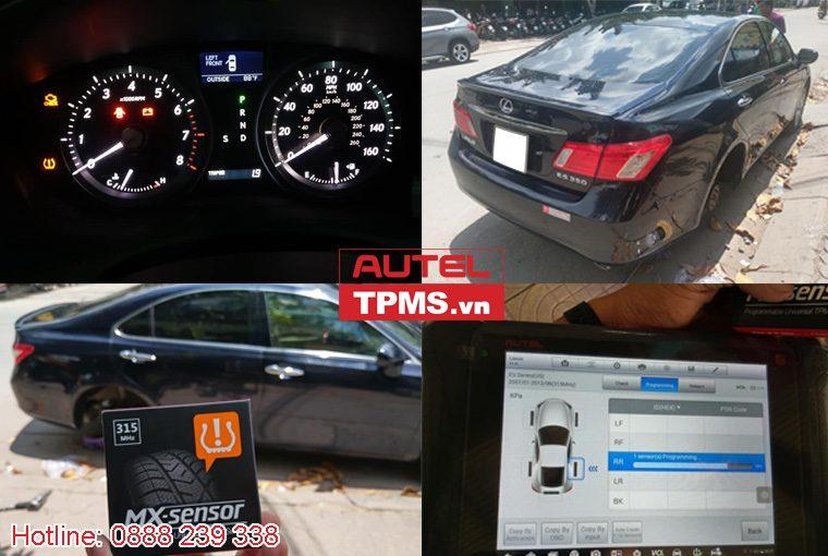 Cài đặt cảm biến áp suất lốp Lexus ES350 2008
