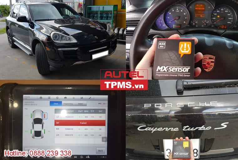 Cài đặt cảm biến áp suất lốp Porsche Cayenne Turbo S 2008