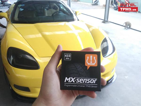 Cài đặt cảm biến áp suất lốp Chevrolet Corvette