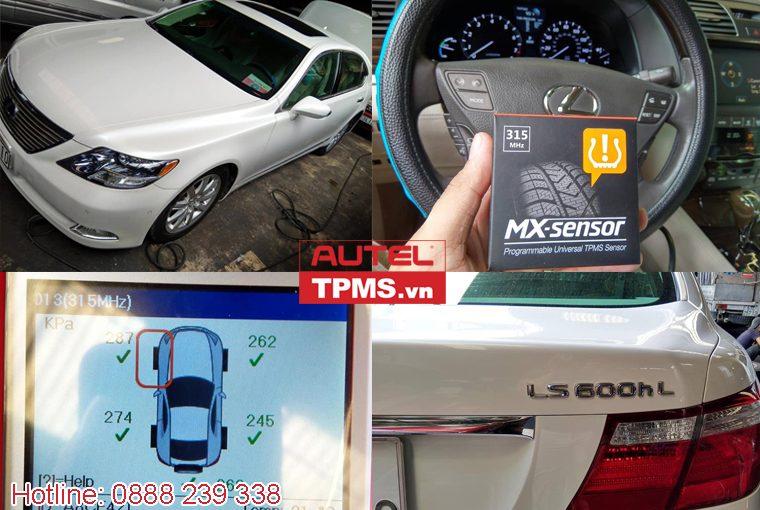 Cài đặt cảm biến áp suất lốp Lexus LS600HL 2009