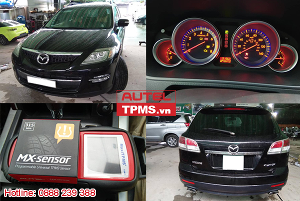 Cài đặt cảm biến áp suất lốp Mazda CX-9 2009