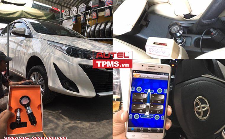 Cài đặt cảm biến áp suất lốp Wireless iOS Toyota Vios