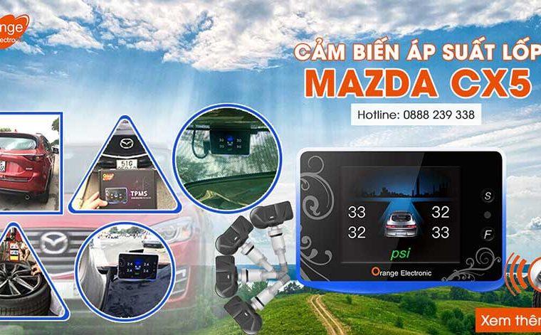 Lắp đặt cảm biến áp suất lốp Mazda CX5
