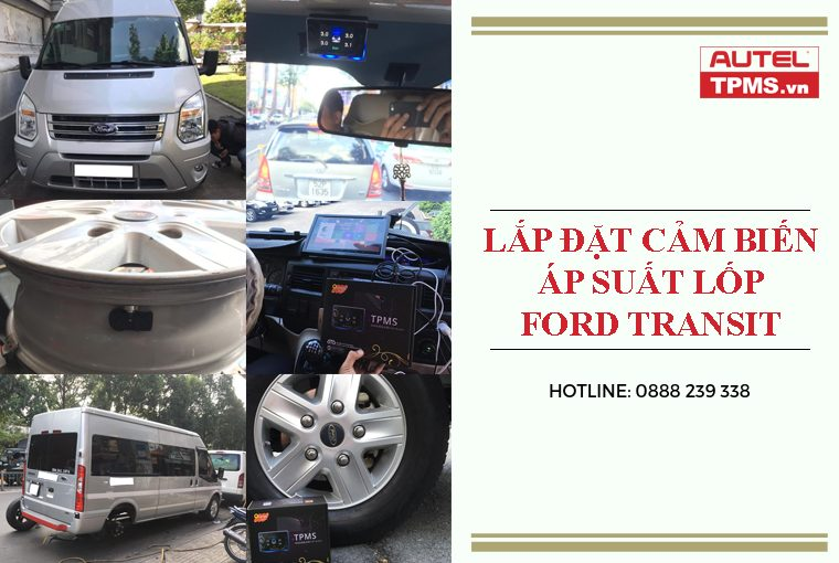 Lắp đặt cảm biến áp suất lốp Ford Transit
