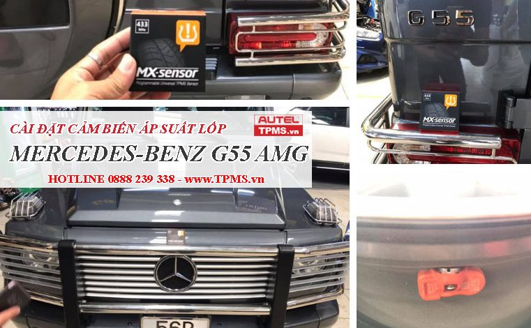 Cài đặt cảm biến áp suất lốp Mercedes Benz G55 AMG