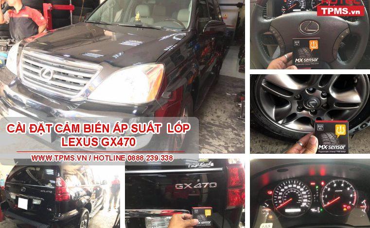 Cài đặt cảm biến áp suất lốp Lexus GX470