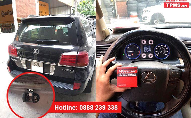 Thay và cài đặt cảm biến áp suất lốp Lexus LX570 2009