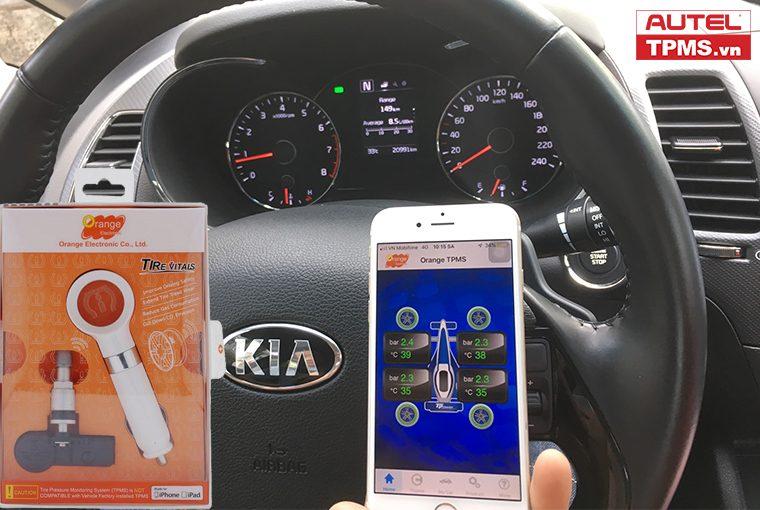 Lắp đặt cảm biến áp suất lốp Kia Cerato 2018