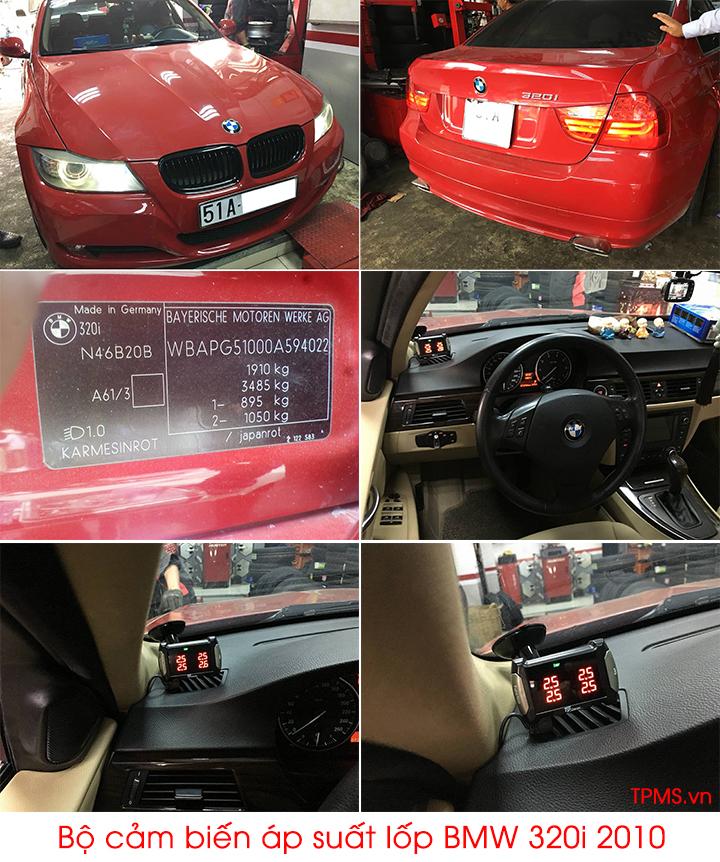 Lắp bộ cảm biến áp suất lốp BMW 320i 2010