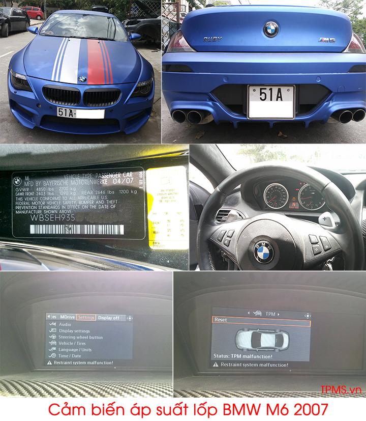 cảm biến áp suất lốp bmw m6 2007