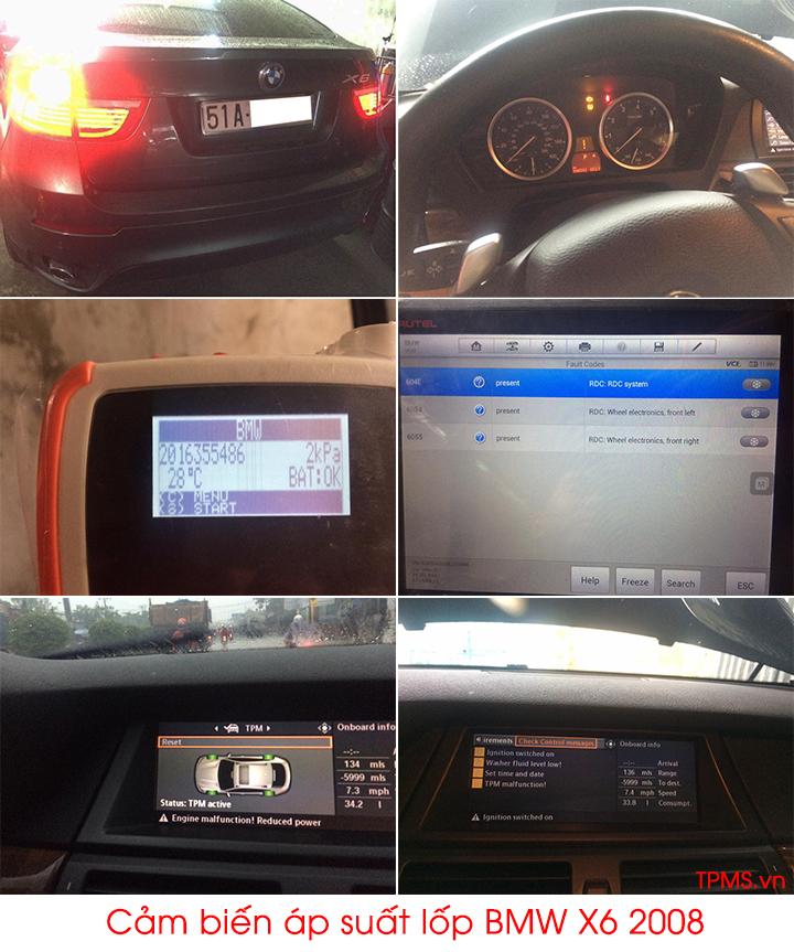 Lắp đặt cảm biến áp suất lốp BMW X6 2008