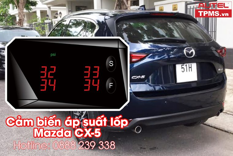 Lắp đặt bộ cảm biến áp suất lốp Mazda CX-5