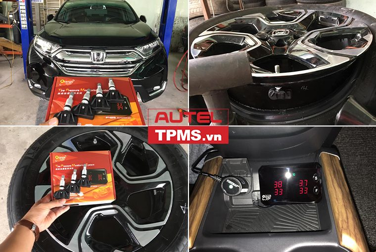 Lắp đặt bộ cảm biến áp suất lốp xe Honda CR-V 2019