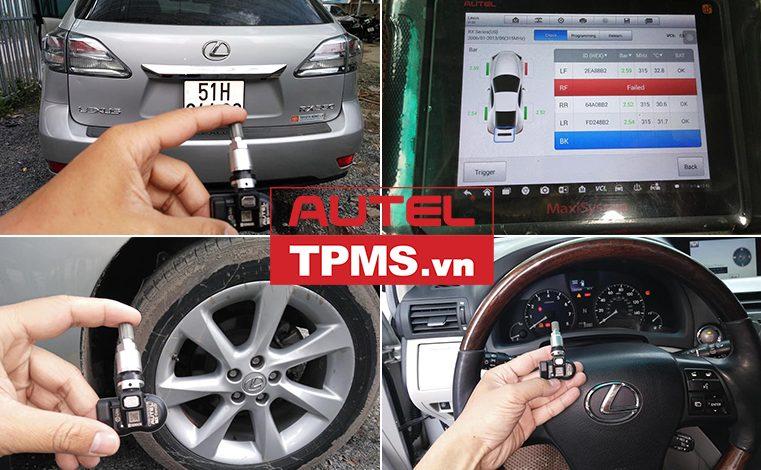 Lắp đặt cảm biến áp suất lốp Lexus RX350 2010