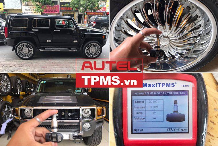 Thay cảm biến áp suất lốp Hummer H3 2009