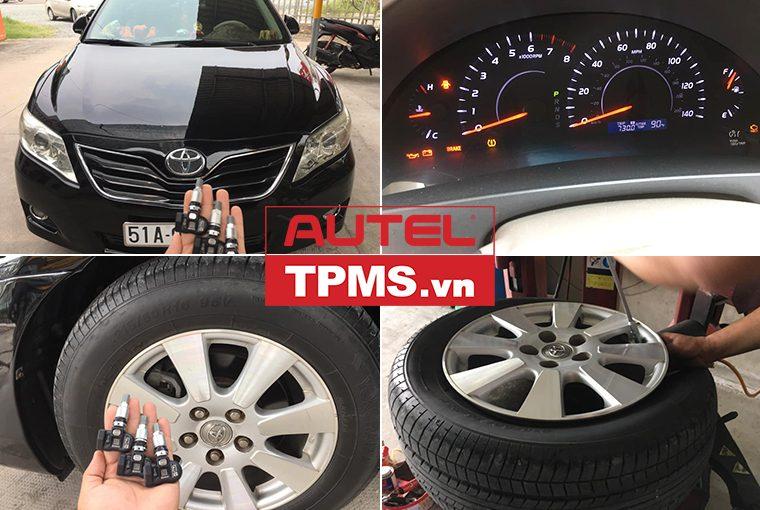 Lắp đặt cảm biến áp suất lốp Toyota Camry LE 2010