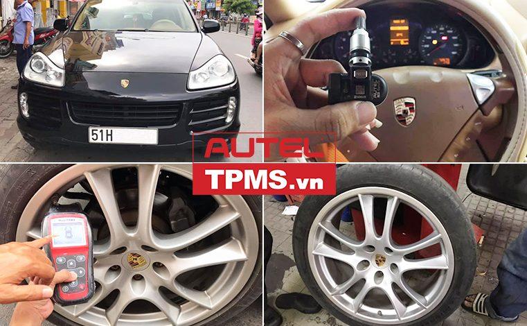 Thay van cảm biến áp suất lốp Porsche Cayenne S 2008