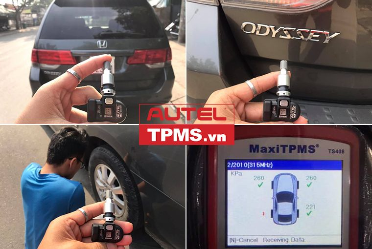 Thay van cảm biến áp suất lốp Honda Odyssey 2008