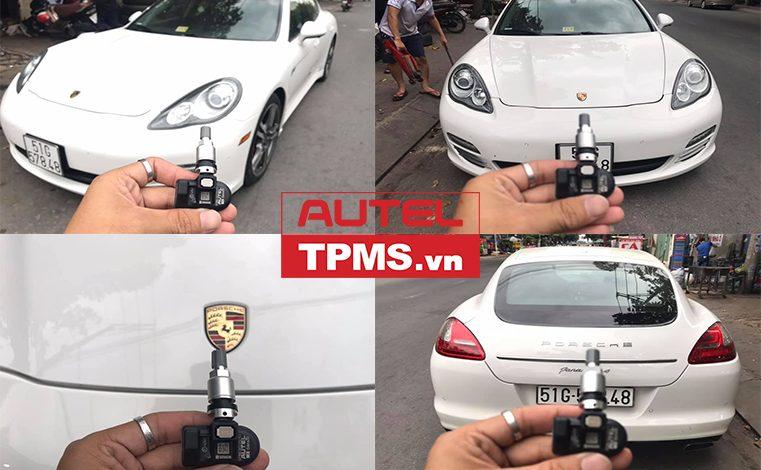 Lắp đặt cảm biến áp suất lốp Porsche Panamera 2011