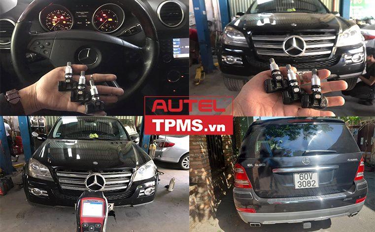 Thay 1 van cảm biến áp suất lốp Mercedes GL550 2008