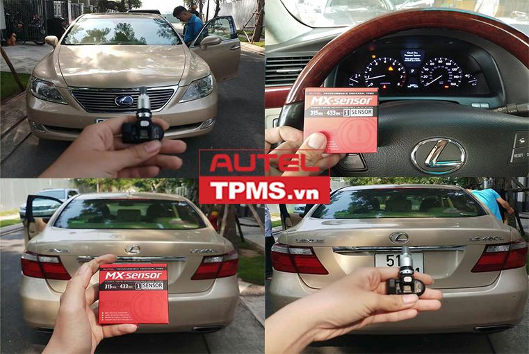 Kiểm tra, thay 1 van cảm biến áp suất lốp Lexus LS460L 2008