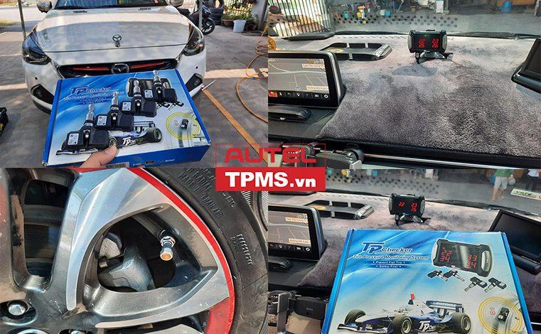 Lắp bộ cảm biến áp suất lốp P420 lên Mazda 2