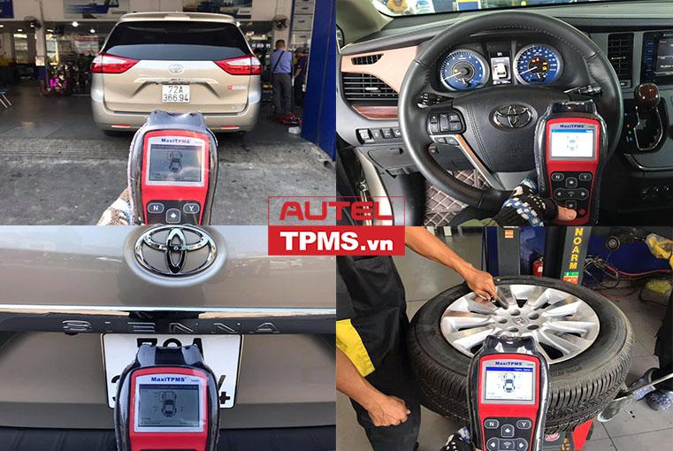 Thay 1 van cảm biến áp suất lốp Toyota Siena 2015